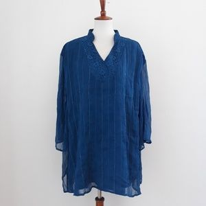 Maggie Barnes 3/4 Sleeve Tunic Top Plus 4X